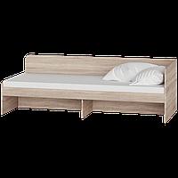 Односпальная Кровать 800 с ящиками Соната ЭВЕРЕСТ Венге темный + Белый (193.2х83.6х60.5 см) сонома + белый