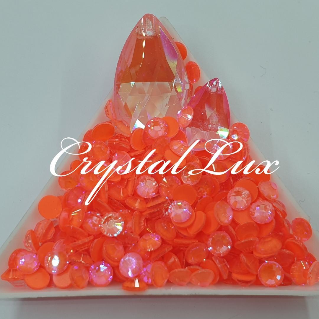 Стразы ss16 Crystal Electric Hyacinth DeLite 100шт, (4.0мм)