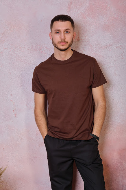 Мужская футболка JHK REGULAR T-SHIRT цвет коричневый (CH)