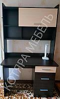 Стол письменный Школьник-4 + надстройка венге темный + дуб молочный Эверест (110х55х188 см)