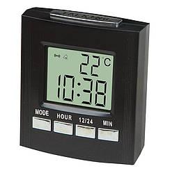 Говорящие настольные часы Kronos VST-7027C с термометром (bks_00656)
