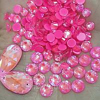 Стразы ss16 Crystal Electric Pink DeLite 100шт, (4.0мм)