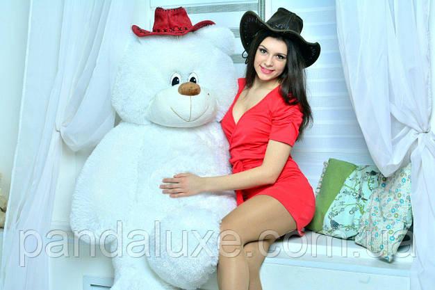 Мягкая игрушка плюшевый медведь белый мишка 135см, фото 3