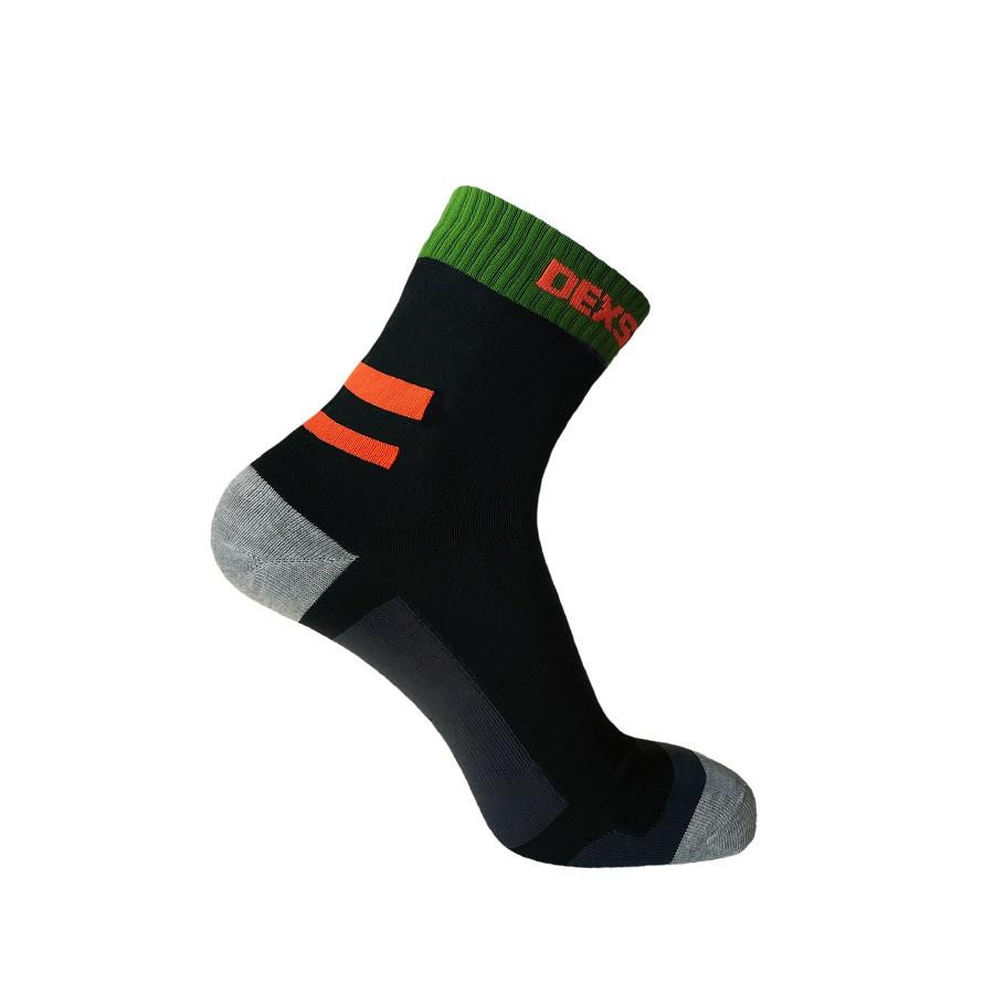 Носки водонепроницаемые Dexshell Running Socks S  с оранжевыми полосами
