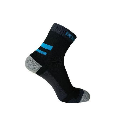Носки водонепроницаемые Dexshell Running Socks S  с голубыми полосами