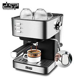 Кофемашинадля приготовления эспрессо DSP KA-3028, полуавтоматическаяиз нержавеющей стали,850Вт, 1,6л.
