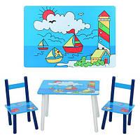 Детский Деревянный Столик «Кораблики» E 03-2100