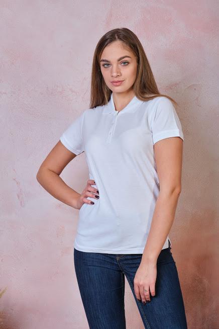 Женская футболка-поло JHK POLO REGULAR LADY цвет белый (WH)