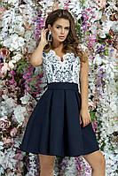 Красиво выпускное платье вечернее платье на выход гипюр + габардин размер:42,44,46