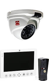 Комплект видеодомофон DOM D 7W (B) + камера DOM 20 H