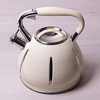 Чайник Kamille 3л.з нержавіючої сталі зі свистком KM-0691