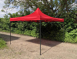 Палатка тент 3 на 3 - палатка-гармошка красная - Раздвижная уличная палатка трансформер