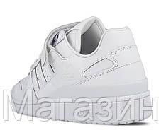 Мужские кроссовки adidas Forum Originals Lo White Адидас Форум белые, фото 3