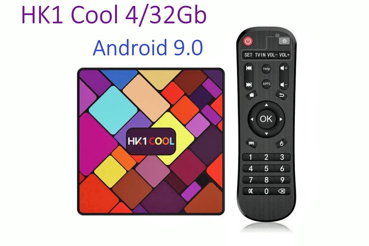 Оригинальная Смарт приставка HK1 Cool 4Gb/32GB Android 9.0 Smart TV Box
