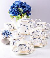 Сервіз чайний фарфоровий на 6 персон Меган 264-657