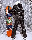 Жіночий зимовий комбінезон гірськолижний з гумкою на талії і хутряною опушкою на капюшоні 18gk43, фото 3