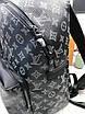 Кожаный рюкзак Луи Виттон   Стильный рюкзак Луи Виттон  Черный мужской женский рюкзак Луи Виттон большой, фото 8