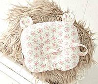 Подушка для новорожденных с держателем для пустышки Мишкины ушки, цветы MagBaby
