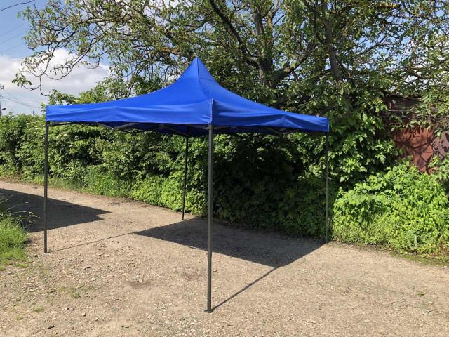 Палатка уличная 3х3 - палатка-гармошка - синяя
