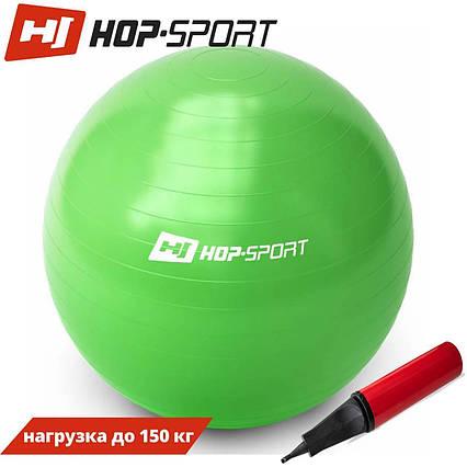 Фітбол Hop-Sport 65cm green + насос, фото 2