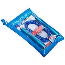 Скакалка скоростная Кроссфит с подшипником и стальным тросом с алюминиевыми ручками W POWER blue, фото 2