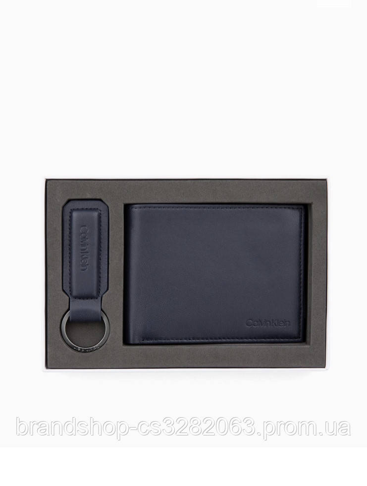 Гаманець чоловічий Calvin Klein Leather Wallet Keyring Gift Box