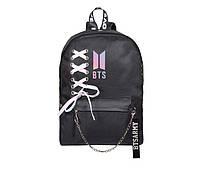 Рюкзак BTS Черный с эмблемой и цепью