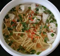 Суп куриный сублимированный еда в поход.