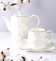 Кофейный набор Фигурный, 6 чашек и чайник 264-140-6-142