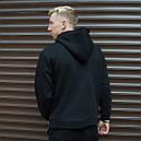 Утепленное худи мужское Адидас (Adidas) черное, фото 3