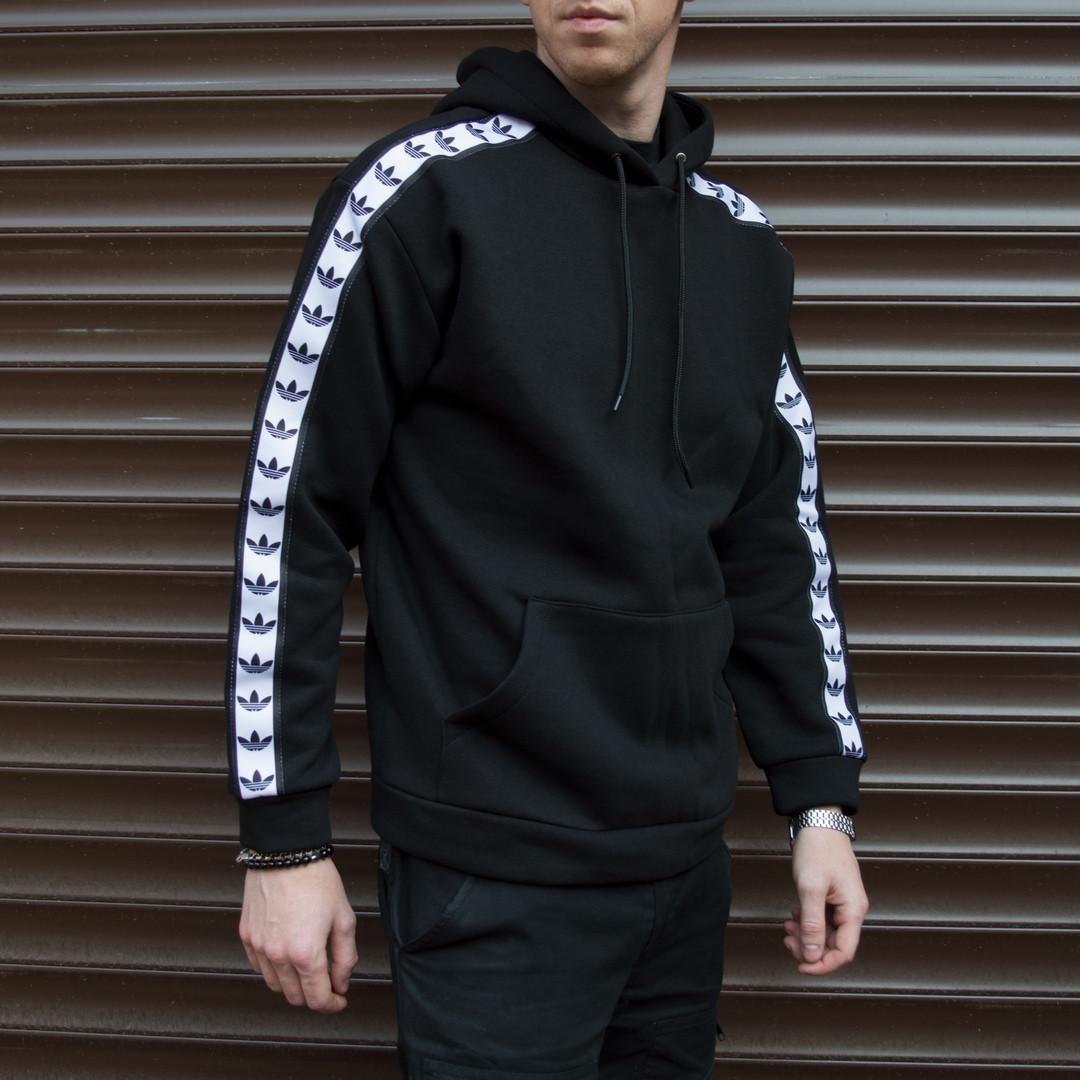 Утепленное худи мужское Адидас (Adidas) черное
