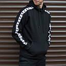 Утепленное худи мужское Адидас (Adidas) черное, фото 4