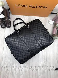 Реплика сумки для ноутбука Louis Vuitton   Кожаная сумка под документы Louis Vuitton   Сумка Луи Виттон