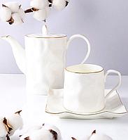 Чайный набор Фигурный, 6 чашек и чайник 264-143-6-142