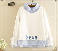 Молодёжный свитер толстовка в корейском стиле свитшот