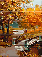 """Картина по номерам на дереве 30х40см """"Осенний парк"""" ASW067"""