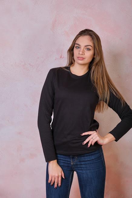 Женская футболка JHK REGULAR LADY LS цвет черный (BK)