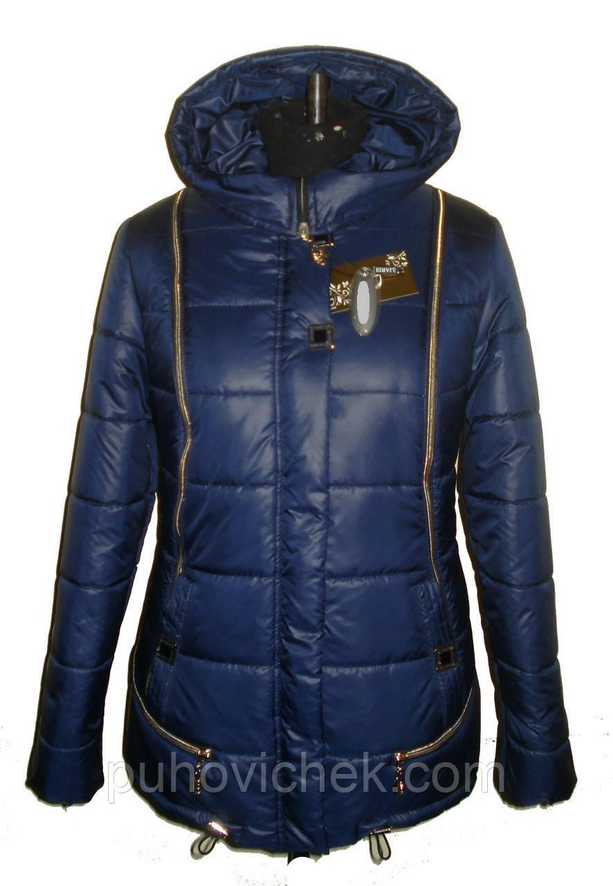 Женская зимняя куртка пуховик без меха
