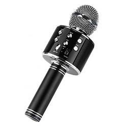 Беспроводной микрофон караоке bluetooth Kronos WS858 Karaoke Black (gr_006605)