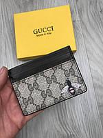 Визитница Gucci   Стильная визитница Гуччи   Картхолер Gucci   Коричневый картхолдер GC   Женская визитница GC