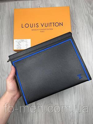 Портмоне Louis Vuitton кожаное   Клатч Louis Vuitton черный   Папка под документы мужская женская Луи Виттон