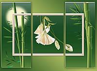 "Модульная картина ""Триптих бамбук"""