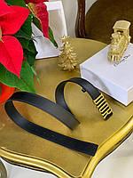 Женский кожаный ремень DIOR 2 см золото (реплика), фото 1