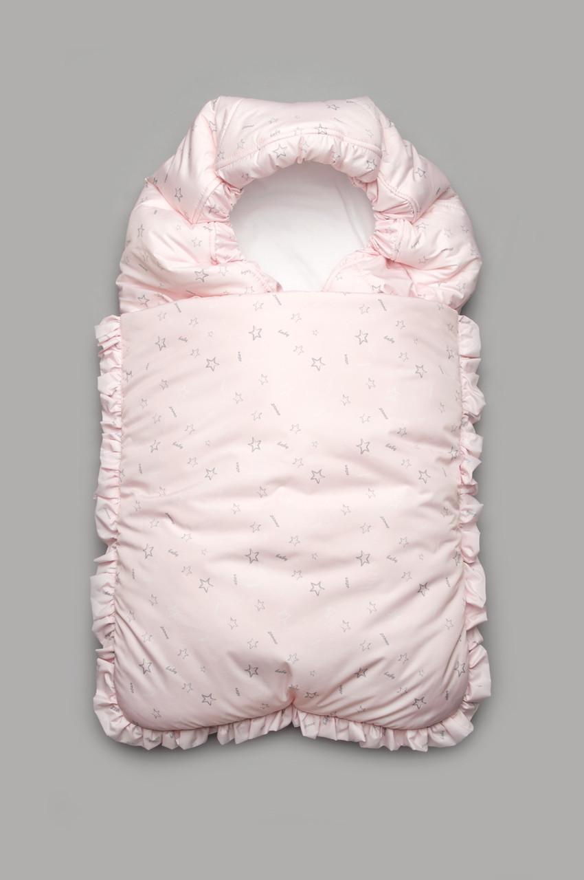 Конверт зимний для новорожденного (розовый)