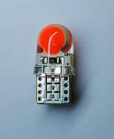 Лампа автомобільна світлодіодна ZIRY T10 w5w LED Cob Chip, червона, фото 1