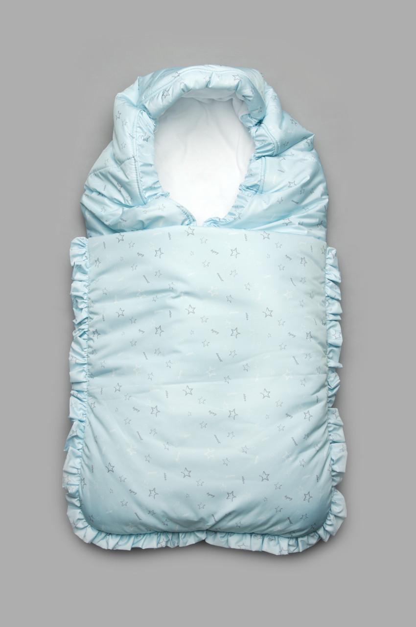 Конверт зимовий для новонародженого (блакитний)