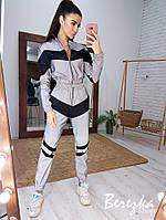 Женский спортивный светоотражающий костюм из рефлективной плащевки 66rt828E