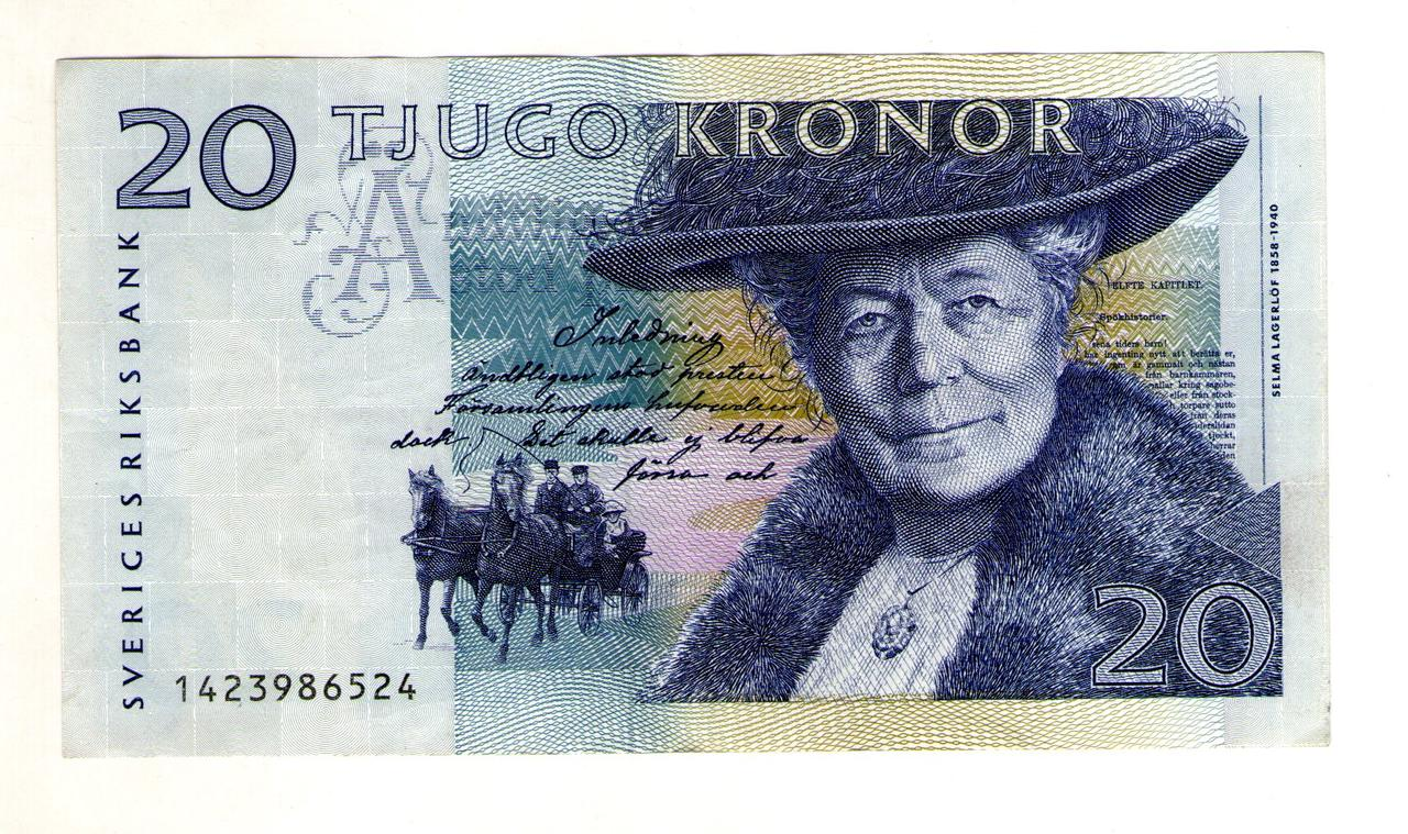 Швеция 20 крон 1991