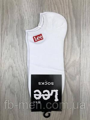 Белые носки Lee | Мужские спортивный носки Лии | Жеснкие низкие носки Лии