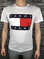 Мужская футболка Tommy Hilfiger белая | Мужская белая футболка Томми | Томми Хилфигер летняя майка